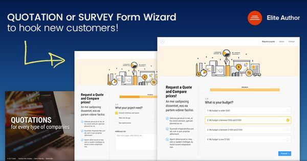 Quote Quotation Or Survey Form Wizard Survey Form Template