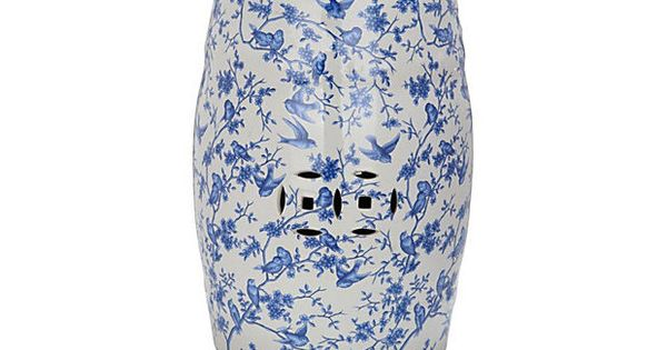Bridget Ceramic Garden Stool Blue White Get An Extra 30 Off With Code Endofsummer13 Until