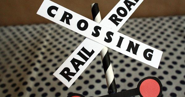 Thomas Birthday Party Decorations: Railroad Crossing ...