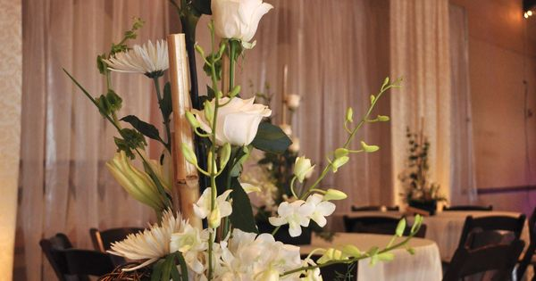 Wedding Florists Ogden Utah : Utah wedding event table centerpiece white and green