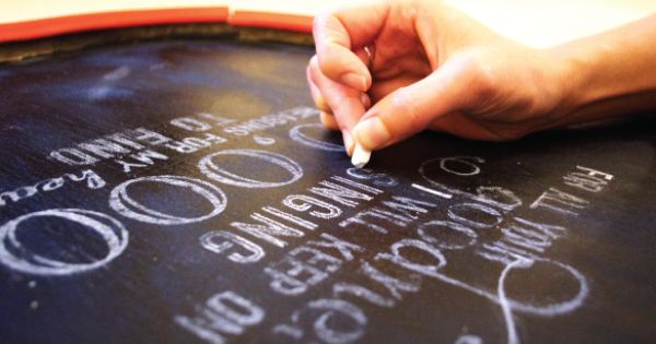 Chalkboard Hand Lettering DIY (don't have to have beautiful handwriting!) | diy