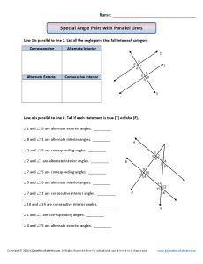 Http In This Angle Worksheet Students List Pairs Of Angles In A Figure That Fall Into Each Catego Angles Worksheet Angle Relationships Worksheet Angle Pairs
