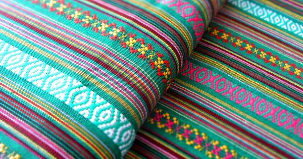 Mexikanischer ethno stoff gr n ikat muster von miss - Ikat muster ethno design ...