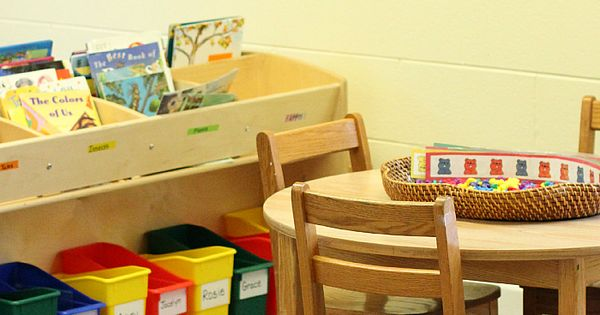 A look around a preschool classroom set up. Some good ideas from