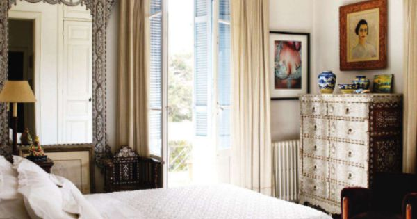 Love! master bedroom. image via elle decor