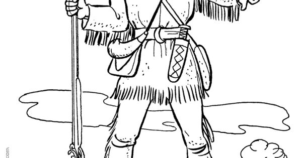 davy crocket coloring pages - photo#10