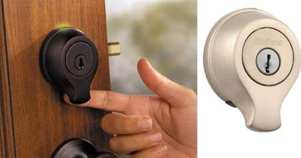 Kwikset Keyless Fingerprint Scan Door Lock Fingerprint Door Lock Door Locks Smart Door Locks