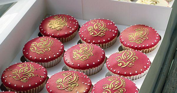 Mehndi Cake Toppers : Wedding henna mehndi cupcakes cupcake topper pinterest
