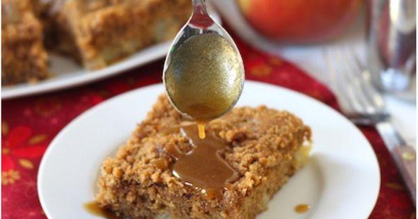 Apple Coffee Crumb Cake with Brown Sugar Glaze on ...