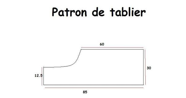 Patron tablier couture pinterest for Patron tablier de cuisine gratuit