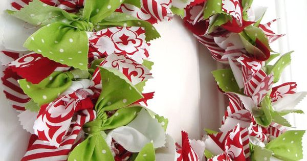 Rag wreath - maybe use a wire hanger to make a DIY