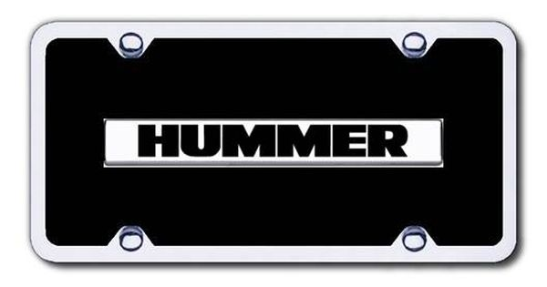 Hummer Name License Plates Logo Tags Black With Frame Hummer