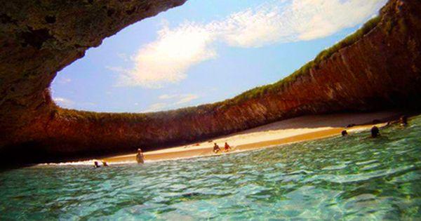 Hidden Beach : Marietta Islands, Puerto Vallarta, Mexico.. I wanna go here