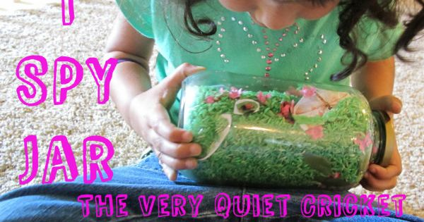 I Spy Jar {The Very Quiet Cricket} - a book tie-in activity