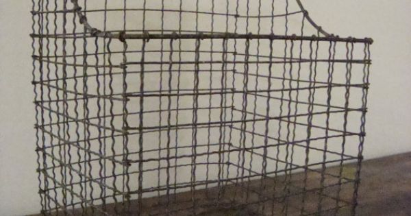 Vintage Wire Wall Baskets Vintage Industrial Wire Wall