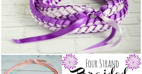 Braided Four Strand Ribbon Lei Tutorial