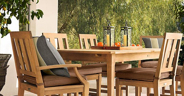 Restoration Hardware 39 S Teak Outdoor Furniture For The Home Diy Pinterest Extension Dining