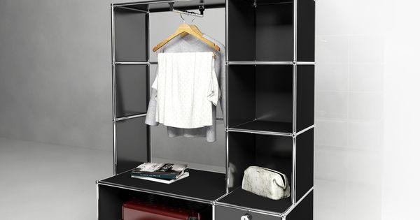 usm modular furniture wardrobe black usm haller dressing noir usm pinterest. Black Bedroom Furniture Sets. Home Design Ideas
