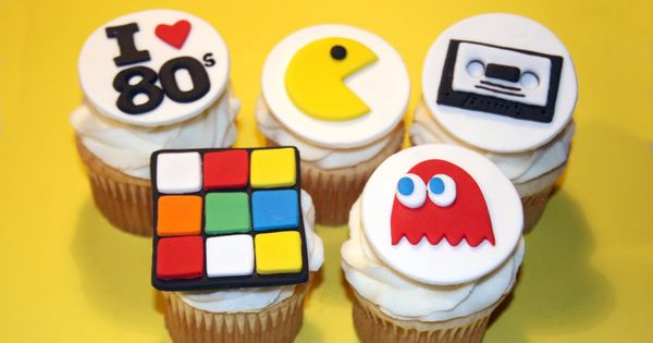80's Party Theme - Party Food. These cake toppers are great for