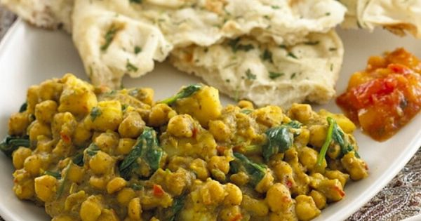 Chickpea, Potato, And Spinach Jalfrezi With Cilantro Chutney Recipe ...