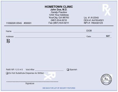Prescription Pad Samples Yahoo Image Search Results