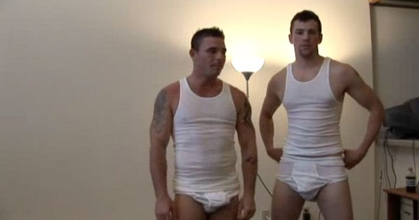 undershirtmen:Just two guys hanging out in their underwear ...