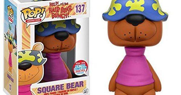 Funko Pop Animation Hair Bear Bunch Square Bear Nycc 2016 Funko Pop Pop Vinyl Figures