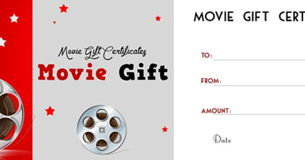 movie gift certificates template free gift certificate
