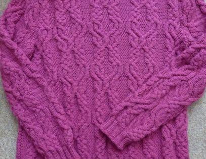 Схема вязания свитер аран