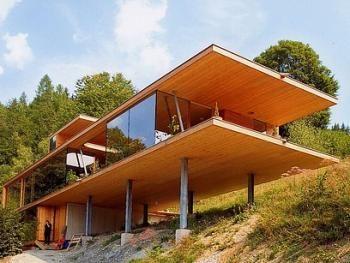 Construction Sur Terrain En Pente Recherche Google Architecture Architecture House Roof Design