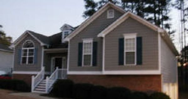 Like The Grey Siding With Black Shutters Off White Trim