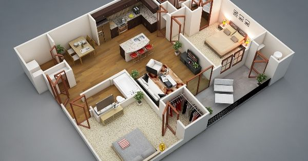 Small home plans open layout and small homes on pinterest