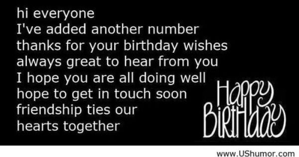 Happy Birthday Wish Reply Us Humor Funny Pictures Quotes Pics Photos Images Thanks For Birthday Wishes Thanks For Wishes Happy Friendship