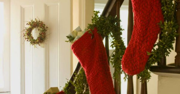 Mantel Alternative No fireplace to hang stockings? No problem. Simply hang your