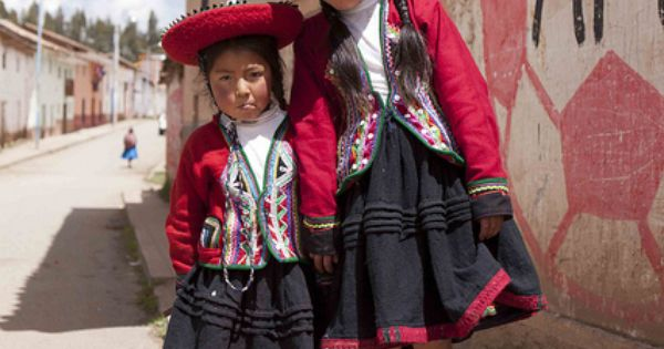 Traditional costumes of Chinchero, Sacred Valley, Peru