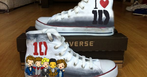 1D Custom Converse / hand painted converse shoes for one direction fans