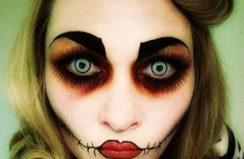 VoilA� de quoi vous inspirer. | See more about Rockabilly, Zombies and Creepy Makeup.