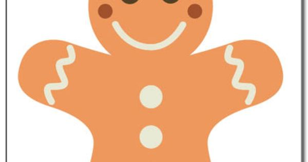 gingerbread man templates