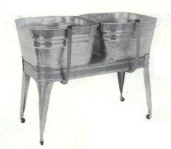 Double Galvanized Laundry Sink With Stand Laundry Sink