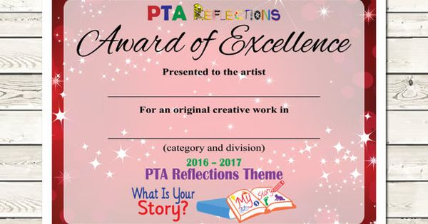 pta reflections certificate  2016