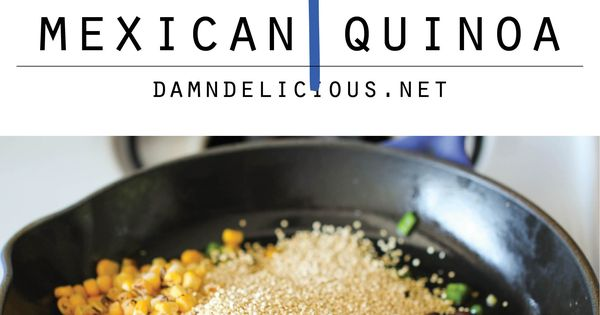 One Pan Mexican Quinoa - Wonderfully light, healthy and nutritious - I love one pot wonders