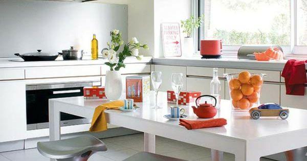 wände streichen ideen frische küche oranger teppich moderne - küche selbst planen