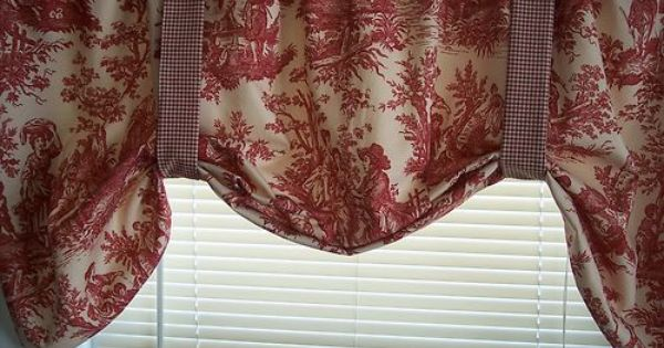 Pin By Mandie Lyons On Love Toile Red Toile Curtains Toile Curtains Red Toile