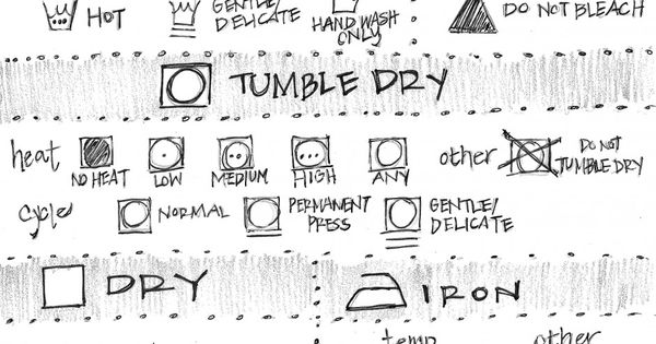 Laundry symbols! It's like the Rosetta Stone of cleaning!