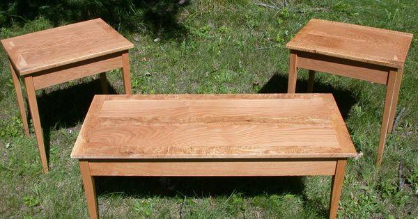 Handmade White Oak Shaker Style End Tablescoffee Table By