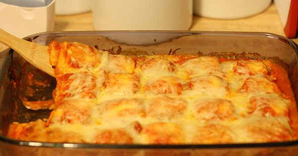 """Baked Ravioli -another pinner said """"a regular in my weeknight dinner rotation."""