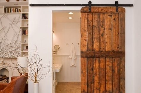 carriage home ideas | House Remodeling Ideas / bathroom carriage door..I love