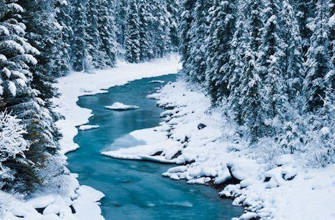 North Saskatchewan River, Banff National Park, Alberta, Canada