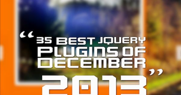 35 Best Jquery Plugins Of December 2013 With Images Jquery