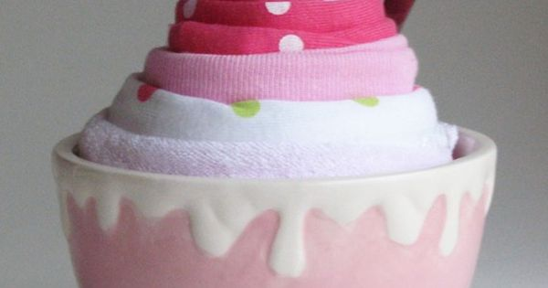 Baby Shower Gift idea: Ice Cream Bowl baby gift. It includes a